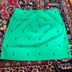 Talbots Skirts - Talbots Kelly Green Pencil Skirt Seahorses Size 16